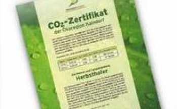 CO2-Zertifikat
